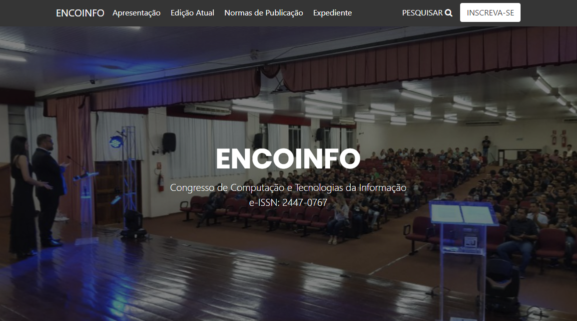 Novo site do ENCOINFO