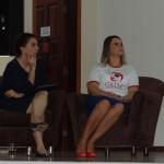 Conselheira do TCE Doris Coutinho, acompanhada da Profa. Dra. Dagmar Gemelli.